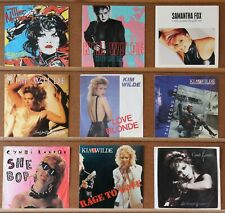 "Kim Wilde/Cyndi Lauper/The Motels..Bulk Lot of 9 Single 7"" Pic Sleeve Excellent+"