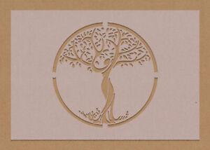 Tree of Life Goddess Stencil