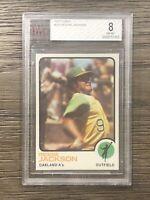 1973 Topps Reggie Jackson BVG 8 Oakland Athletics #255 Baseball Card