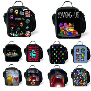 Kids Among us Game Lunch Bag Insulated Student Snack Picnic Box Xmas Gifts AU