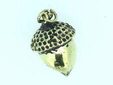 Antique Acorn Pendant Watch Fob Gilt Metal heavy Traditional Victorian C1850s