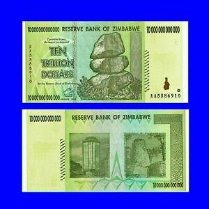 🍀P 88 Simbabwe  Zimbabwe 10 Trillion Dollars 2008 Unc.AU F5656H-6723J