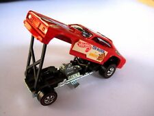HOT WHEELS REDLINE,TOM McEWEN MONGOOSE PLYMOUTH FUNNY, RED BLACK INTERIOR MINT