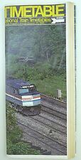 August 3 to October 25, 1980 AMTRAK Railroad Time Table Passenger Schedule