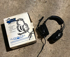 New listing Flightcom 4Dx Classic Aviation Headset With Sonetics Mic Used Exc Cond W Box