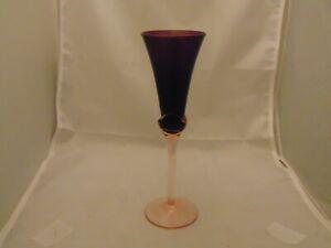 Mikasa Tulip Purple Amethyst Flute(s) w/Pink Stem