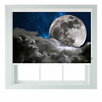 Full moon romantic themed black out roller blind various sizes rollo