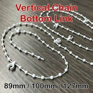 Vertical Blind Bottom Chain Link Beaded Cord Join Clip Weights 89mm 100mm 127mm