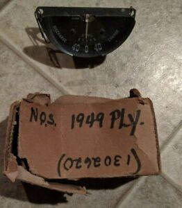 NOS 1949 49 PLYMOUTH AMMETER AMP GAUGE MOPAR 1302620