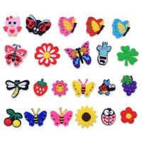 Girl Gifts 22pcs Shoe Charms Adapts Butterfly Flowers Fruit Cactus For Bracelet
