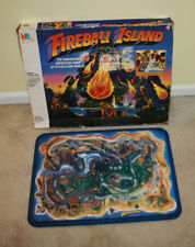 Vintage Milton Bradley Fireball Island Board Game - Game Board & Box Only G1017