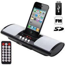 Enceinte Station d'acceuil Portable IPHONE 4 4S 3GS 3G IPOD CLE USB SD Réveil