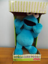 "2003 Fisher Price 14"" Plush Cookie Monster Sesame Street Stuffed Animal NIB"