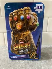 Marvel Avenger Surprise Puzzle Tin Thanos Guantlet Glove Free Shipping!