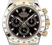 Rolex 116523 Cosmograph Daytona Steel & 18k Gold Black Dial Men 40mm Chronograph