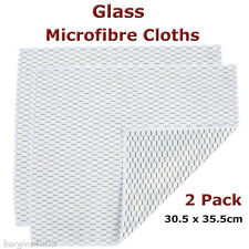 Casabella Glass Microfibre Cloths 2 Pack Windows Mirrors Streak-free Cleaning