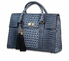 Stylish Luxury Faux Leather Laptop handbag - awesome w/blue jeans