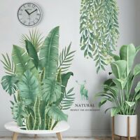 Tropical Leaves Plant Wall Stickers Vinyl Decal Nursery Decor Art Mural Gifts