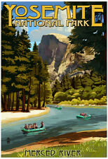 Merced River Rafting - Yosemite National Park, California Poster - 13x19