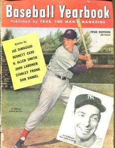 1950 Baseball Yearbook Magazine Ted Williams Red Sox 54064
