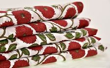 2.5 Yards Indian Handmade printed Fabric hand Block print Cotton Dress fabric