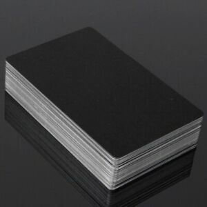 50X Metal business Cards Blanks Laser Mark Engraveable Aluminum Alloy-86 * 54mm