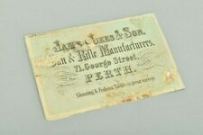 Victorian Gun, Rifle & Fishing Tackle Firm's Case Label. James Lees, Perth. WMFJ