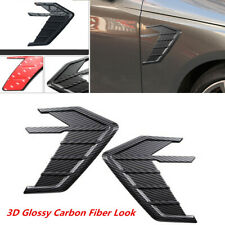New listing Car Side Wing Air Flow Fender Grill Intake Vent Trim Sticker Carbon Fiber Style(Fits: More than one vehicle)