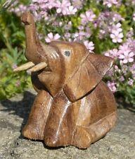 Kleiner sitzender Elefant Holz Tier Afrika Figur Kinder Spielzeug KTier55