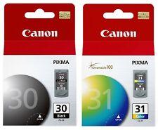 GENUINE Canon PG-30 CL-31 Black Color Ink Cartridge 2 Pack