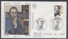FRANCE FDC - 2748 1 ERIK SATIE - HONFLEUR 11 Avril 1992 - LUXE sur soie