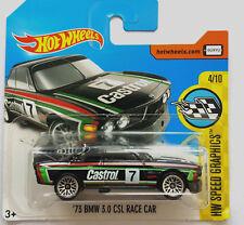 1973 BMW 3.0 CSL Race Car schwarz, Nr 7, 1:64 HW OVP Hot Wheels
