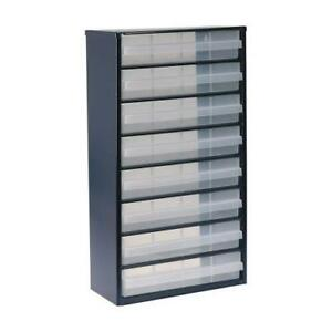 1 x Raaco 8 Drawer Cabinet, Enamelled Steel, 8 Drawer Storage