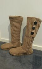 BNWT  Mark Stone  whistler knit GENUINE SHEEPSKIN cardy uggs boot 8-9 tan