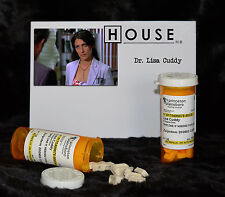 "TV SERIES HOUSE MD EXACT REPLICA COLLECTOR PROP ""DR. LISA CUDDY"" ZOLPIDEM BOTTLE"
