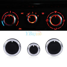 3Pcs Air Condition A/C Switch Buttons Control Knobs Cover For VW Golf MK4 Passat