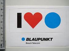 Aufkleber Sticker I Love Blaupunkt - Bosch Telecom - Partner - Decal 90er (1931)