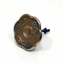 Pomello pomolo maniglietta maniglia ottone deco' ferramenta vintage antica a193