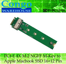 PCI-E 4X M.2 NGFF M-Key to 2013 2014 Macbook Air A1465 A1466 MD711 MD760 SSD