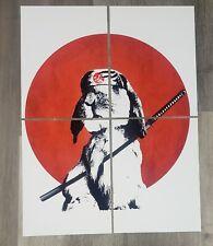 Japanese Bunny Rabbit Print (22in.x16in.) Samurai, Katana, Rising Sun, Animal...