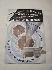 LAYCOCK de NORMANVILLE OVERDRIVE INFORMATION BOOKLET For JAGUAR MARK VII CAR