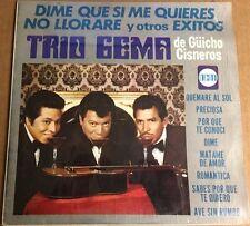 TRIO GEMA DE GÜICHO CISNEROS DIME QUE SI ME QUIERES MEXICAN LP TRANSLUCENT