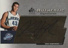 2005 SP Signature Kris Humphries Jazz Auto Mint!