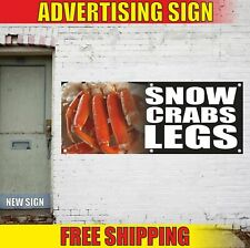 SNOW CRABS LEGS Advertising Banner Vinyl Mesh Decal Sign fresh seafood clams bbq