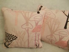 "CENTRAL PARK BY DESIGNERS GUILD 1 PAIR OF 18"" CUSHION COVERS DOUBLE SIDED/PIPED"