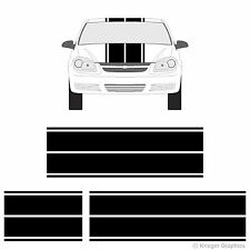 Chevy Cobalt Dual Rally Racing Stripes 3M Vinyl Double Stripe Decals