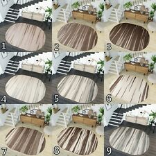 LARGE SOFT OVAL AREA RUGS LIVING ROOM BEIGE BROWN GREY DESIGNER RUGS S-XXL SIZE