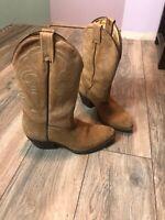 Boulet Cowboy Boots Tan Men's 8 1/2 Nice Boots