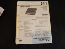 ORIGINALI service manual Sony d-515