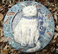Cat stepping stone plastic mold